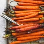 Honey Brown Sugar Roasted Carrots | lecremedelacrumb.com
