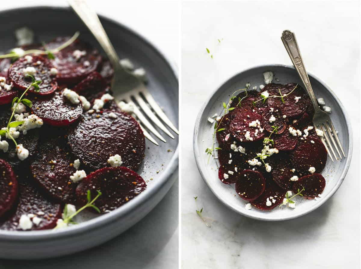 Roasted Beets with Goat Cheese | lecremedelacrumb.com
