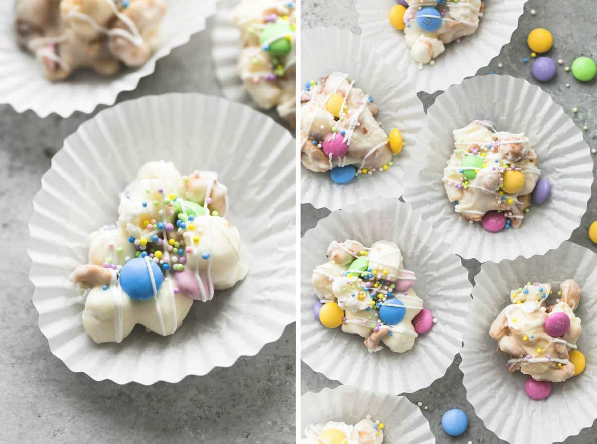 Spring Confetti Crockpot Candy   lecremedelacrumb.com