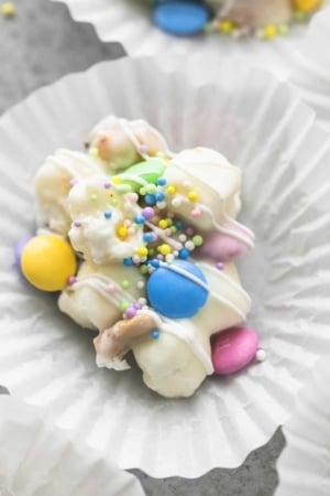 Spring Confetti Crockpot Candy | lecremedelacrumb.com