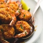Baked Crispy Honey Lime Shrimp | lecremedelacrumb.com