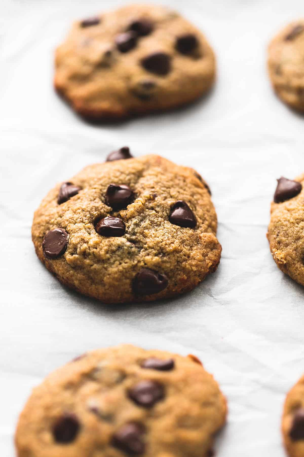 BEST Ever Healthy Banana Chocolate Chip Cookies | Creme De La Crumb