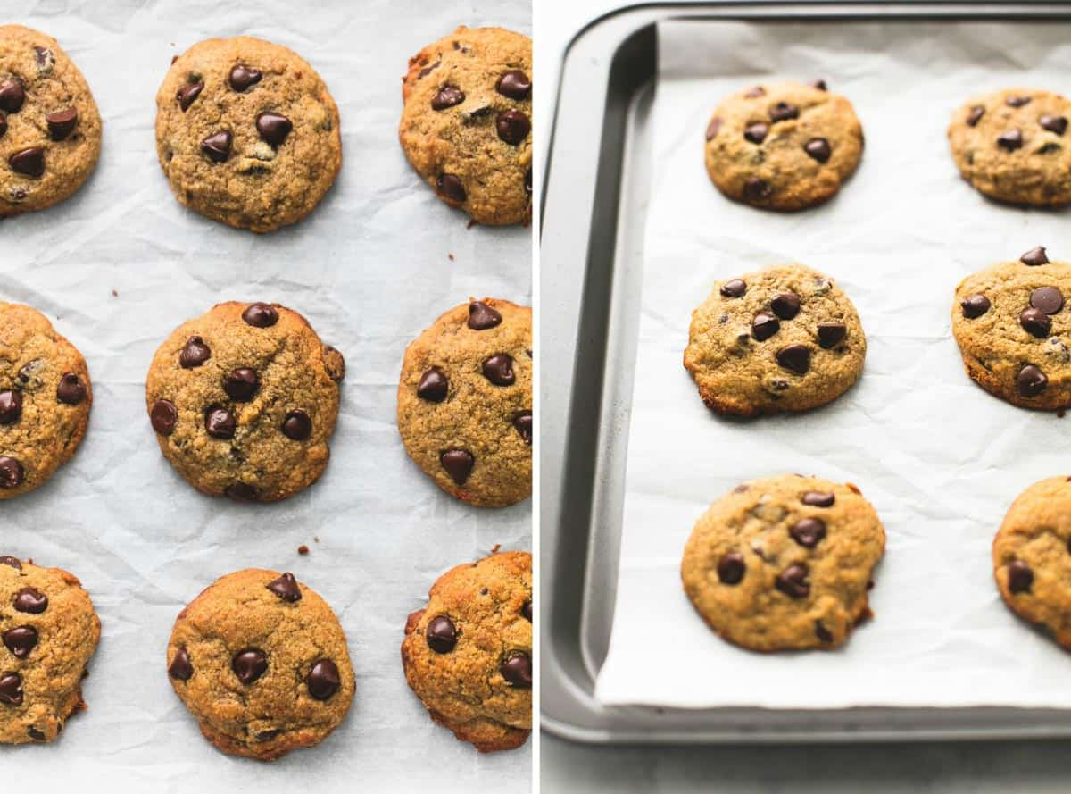 BEST Ever Healthy Banana Chocolate Chip Cookies | lecremedelacrumb.com