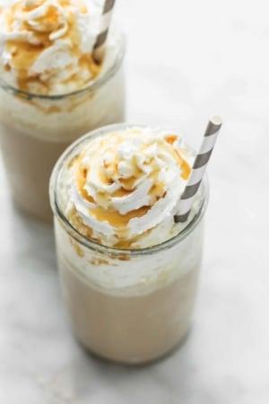Salted Caramel Frappuccino (Kid-friendly / No Coffee)   lecremedelacrumb.com