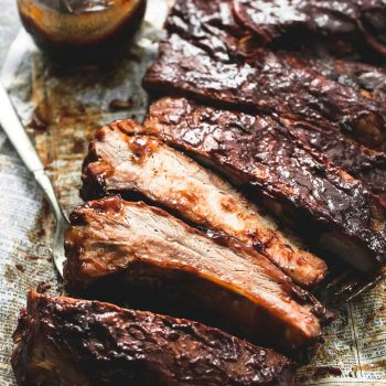 BEST Easy Slow Cooker BBQ Ribs | lecremedelacrumb.com