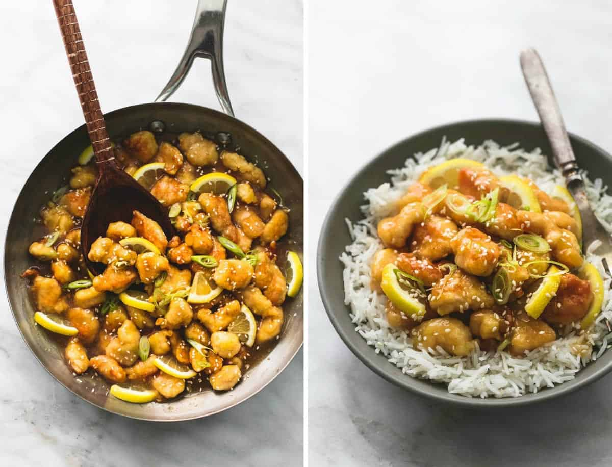 Sticky Chinese Lemon Chicken | lecremedelacrumb.com