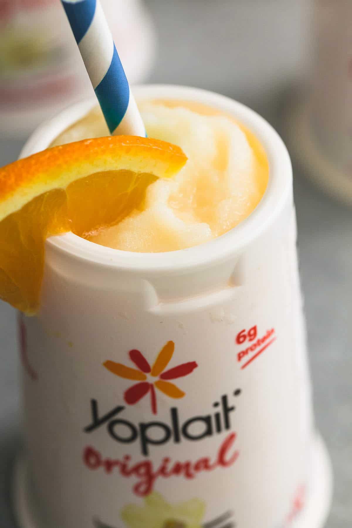 3 Ingredient Orange Yogurt Smoothie