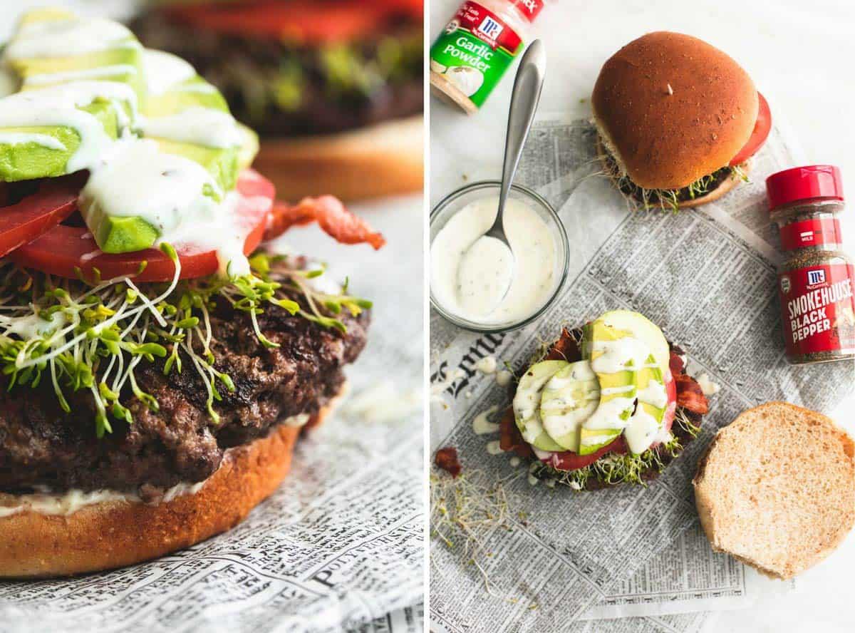 California Club Burger | lecremedelacrumb.com