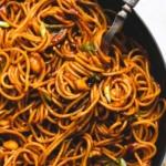 Kung Pao Noodles | lecremedelacrumb.com