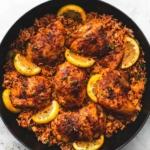 One Pan Spanish Chicken and Rice | lecremedelacrumb.com