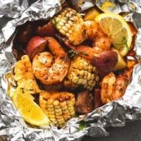 Shrimp Boil Foil Packs | lecremedelacrumb.com