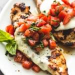 Grilled Bruschetta Chicken   lecremedelacrumb.com