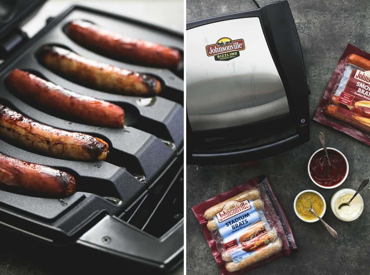 3 Ingredient Grilled Sausage Dipping Sauces | lecremedelacrumb.com
