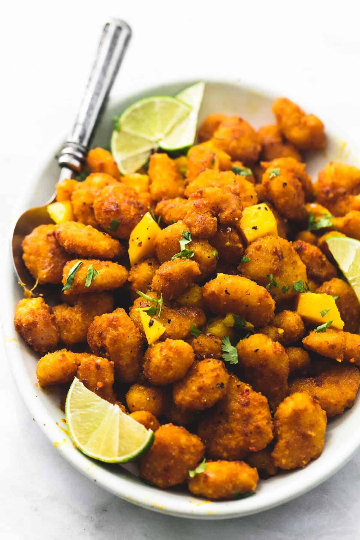 Mango Habanero Popcorn Shrimp | lecremedelacrumb.com