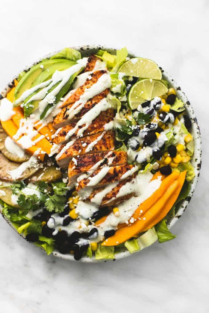 Southwest Mango Pineapple Grilled Chicken Salad