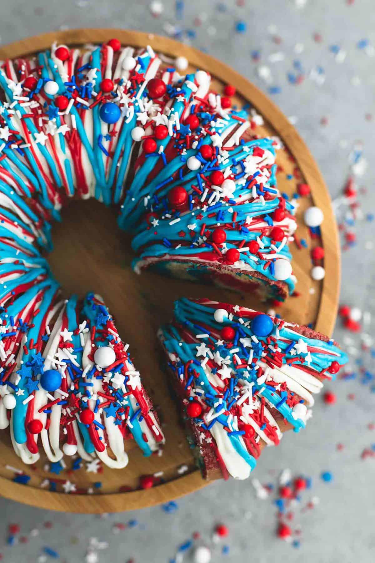 Firecracker Bundt Cake | lecremedelacrumb.com