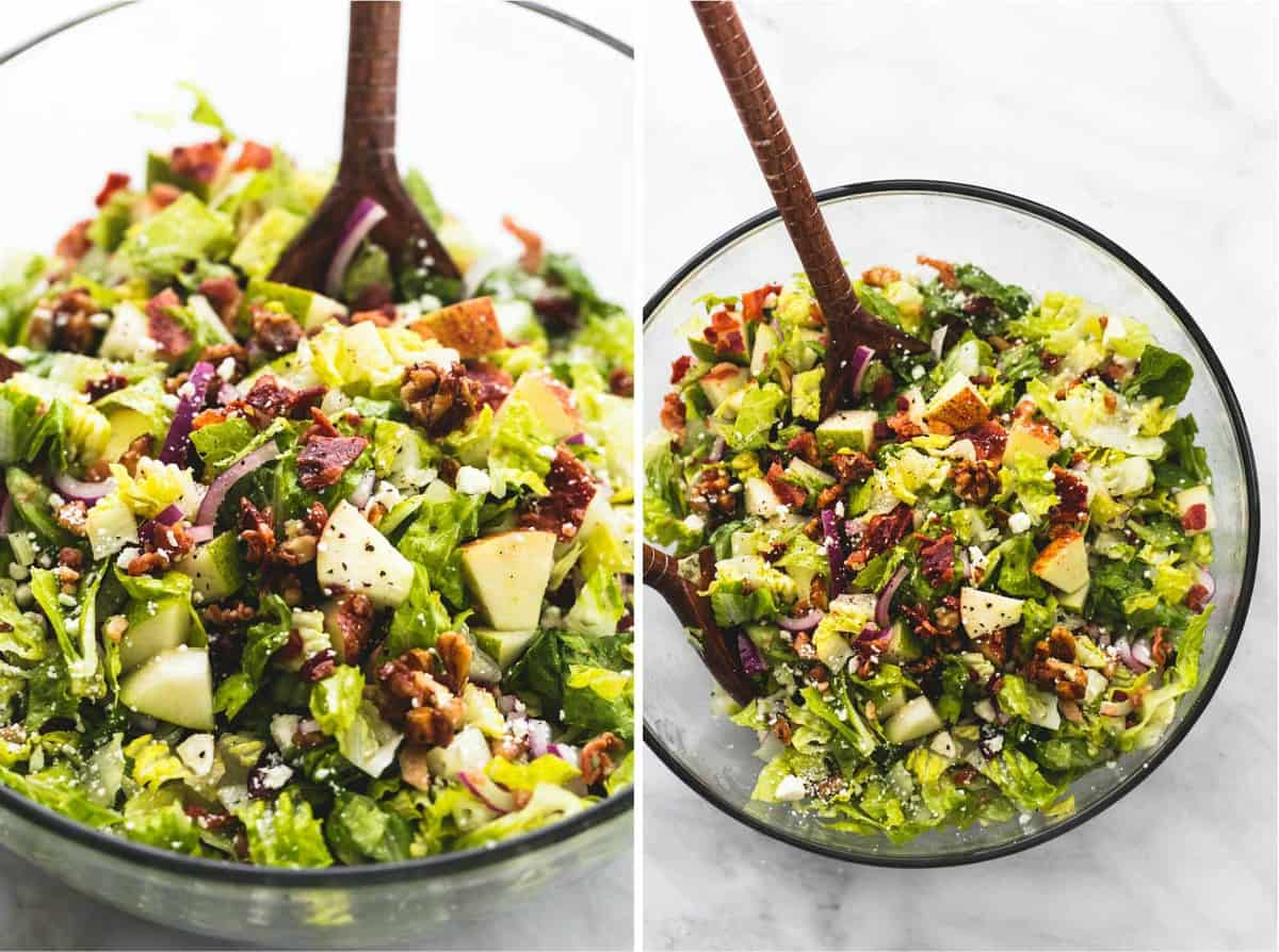 Chopped Autumn Salad with Apple Cider Dressing | lecremedelacrumb.com