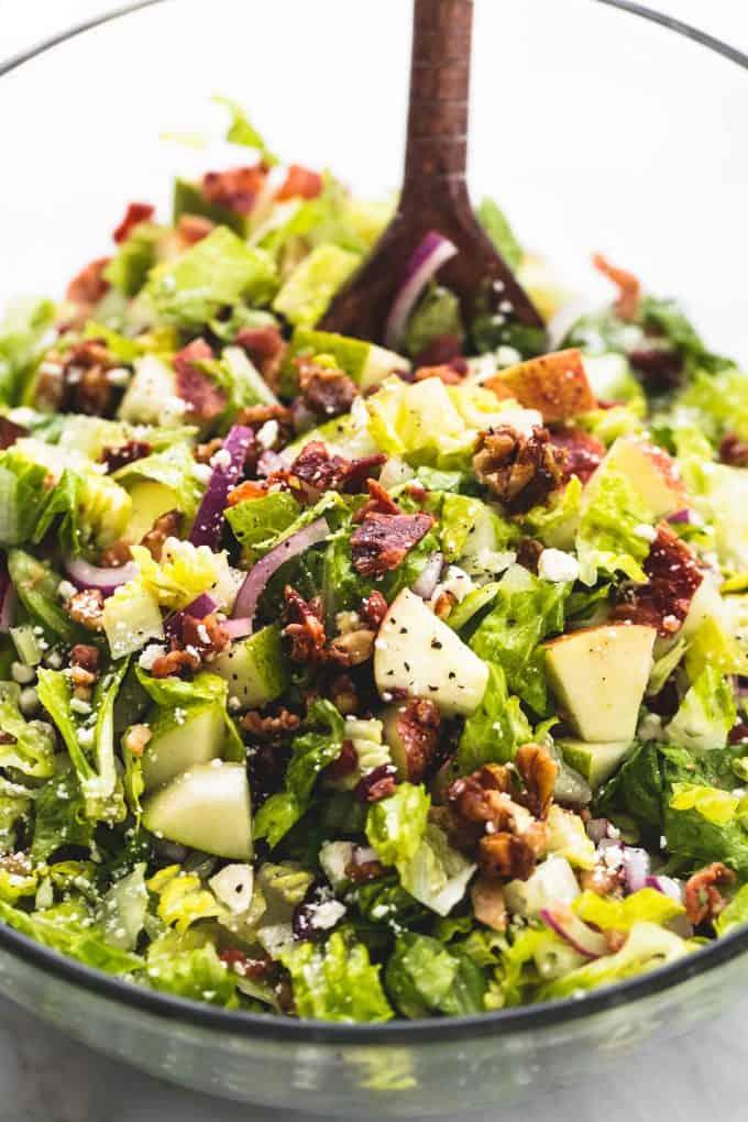 Chopped Autumn Salad with Apple Cider Dressing   lecremedelacrumb.com