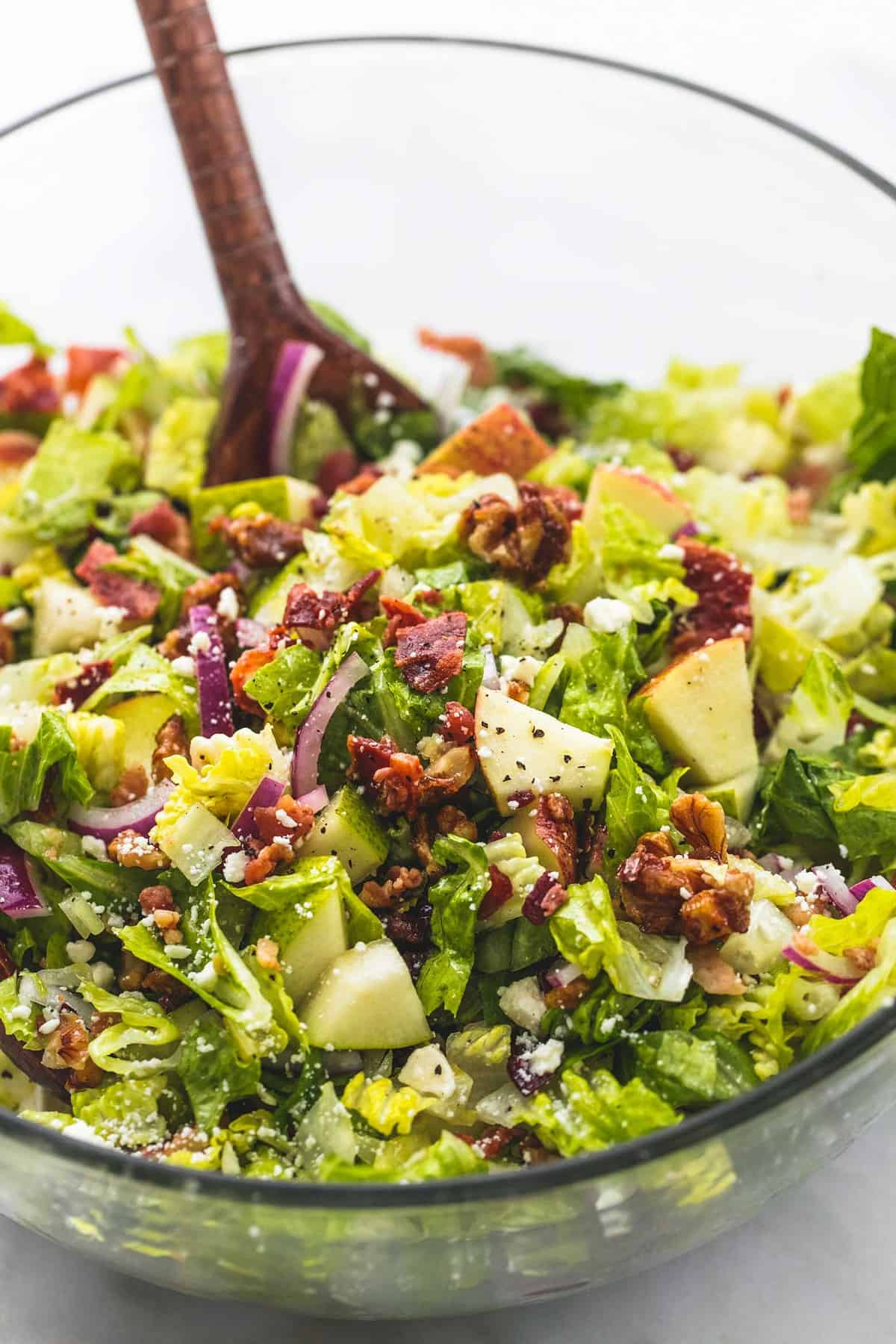 Chopped Autumn Salad with Apple Cider Dressing | lecremedelacrumb.com