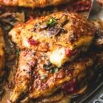 Stuffed Chicken Marsala | lecremedelacrumb.com