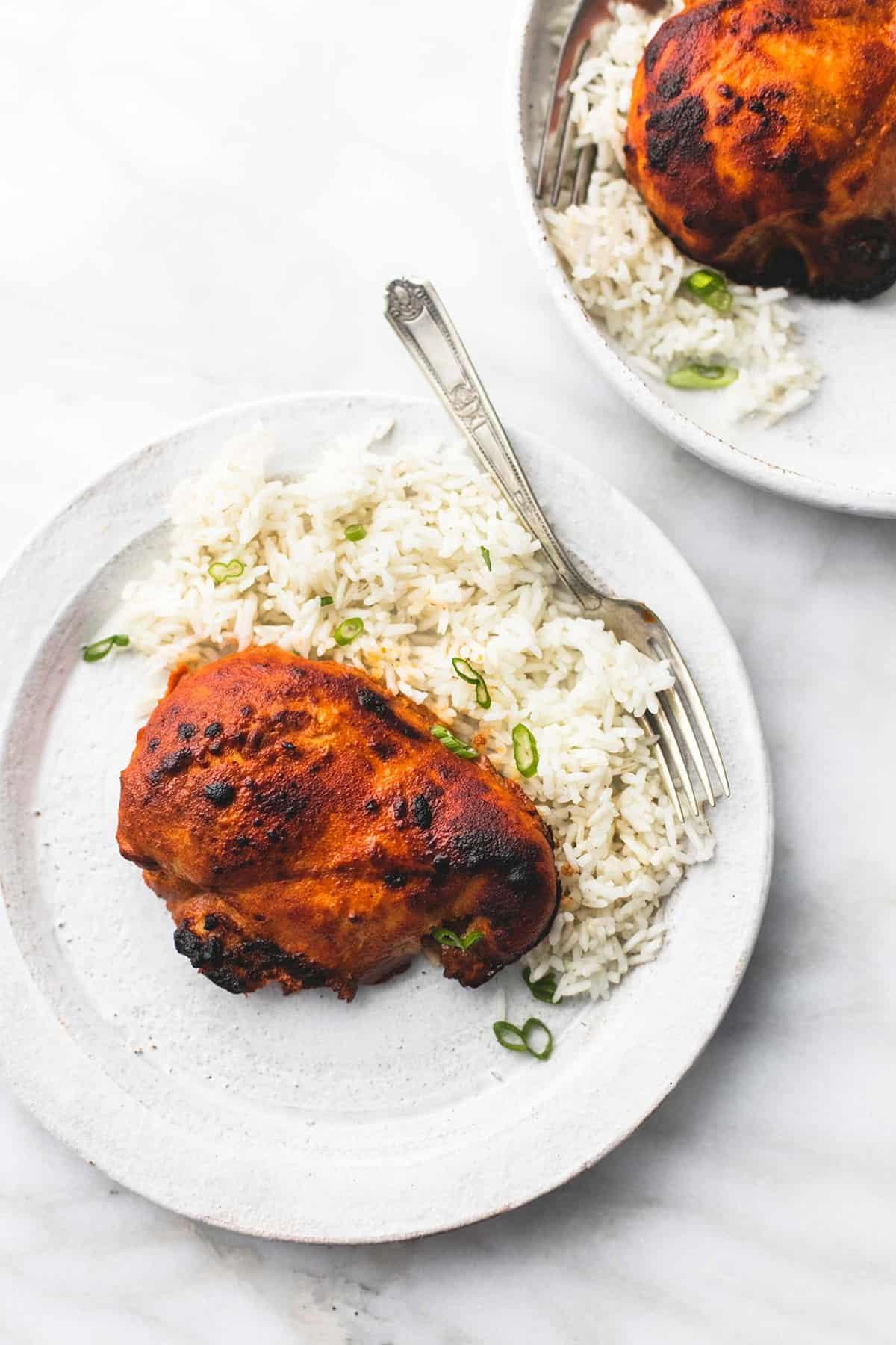 Oven Baked Tandoori Chicken | lecremedelacrumb.com