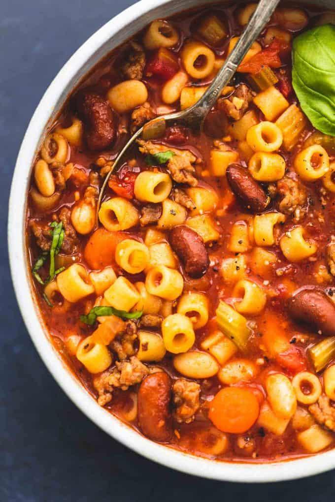 Pasta e Fagioli Soup | lecremedelacrumb.com