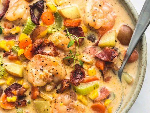 Shrimp And Bacon Corn Chowder Creme De La Crumb