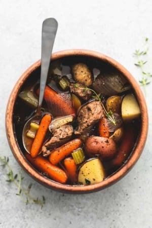 Slow Cooker Beef and Potato Stew   lecremedelacrumb.com