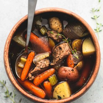 Slow Cooker Beef and Potato Stew | lecremedelacrumb.com