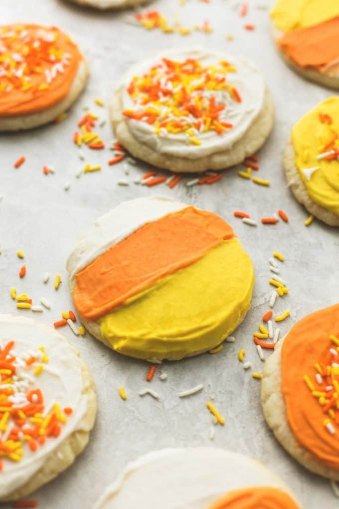 Ultra Soft Candy Corn Sugar Cookies