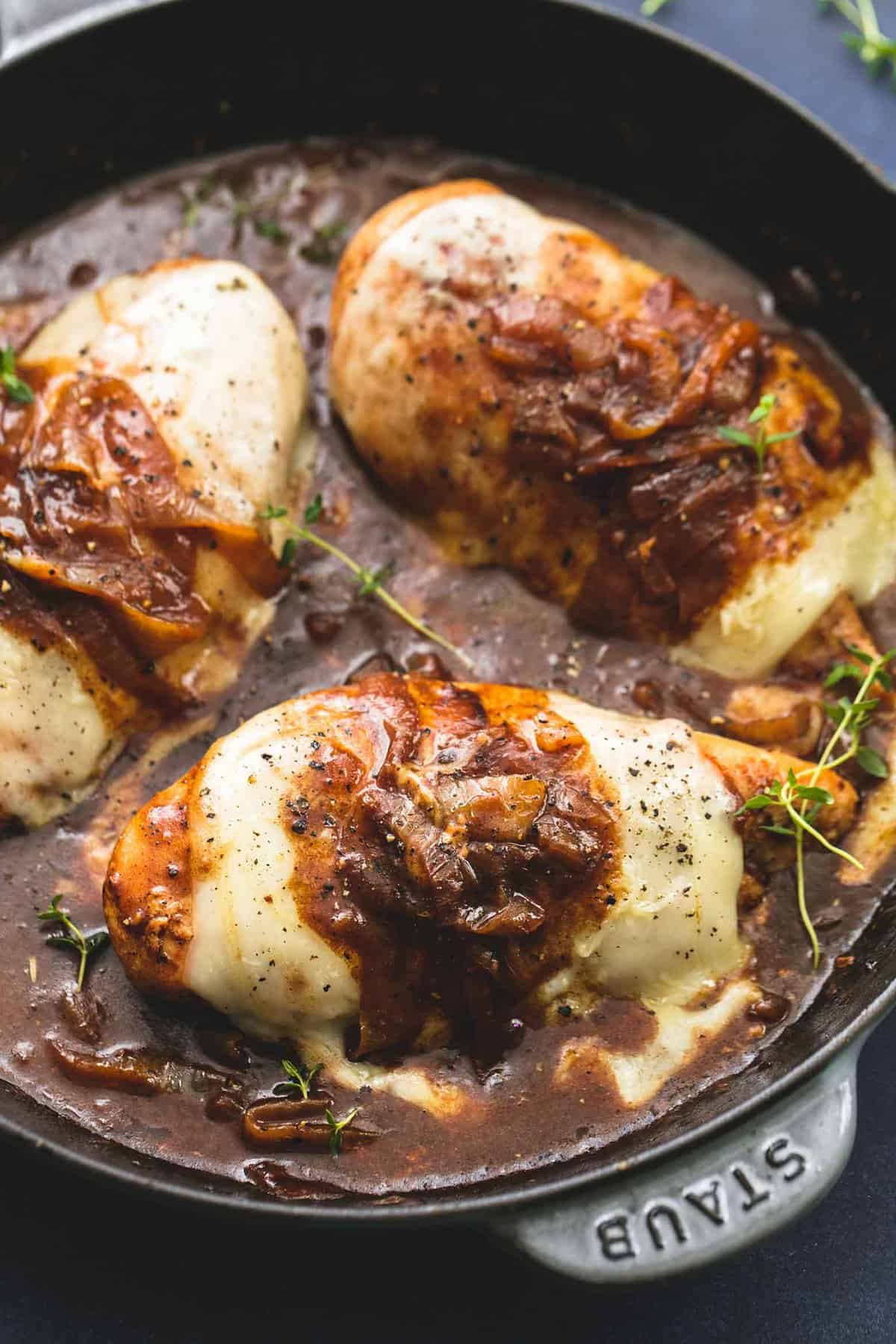 French Onion Chicken | lecremedelacrumb.com