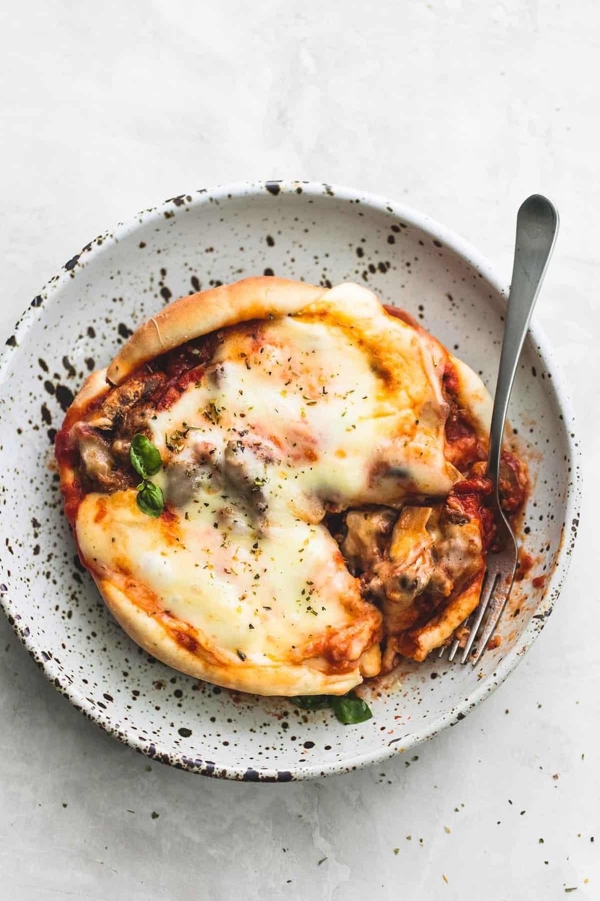 Pizza Pot Pie | lecremedelacrumb.com