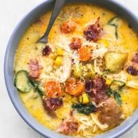 Slow Cooker New England Chicken Chowder | lecremedelacrumb.com