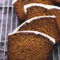 Cream Cheese Frosted Pumpkin Bread | lecremedelacrumb.com