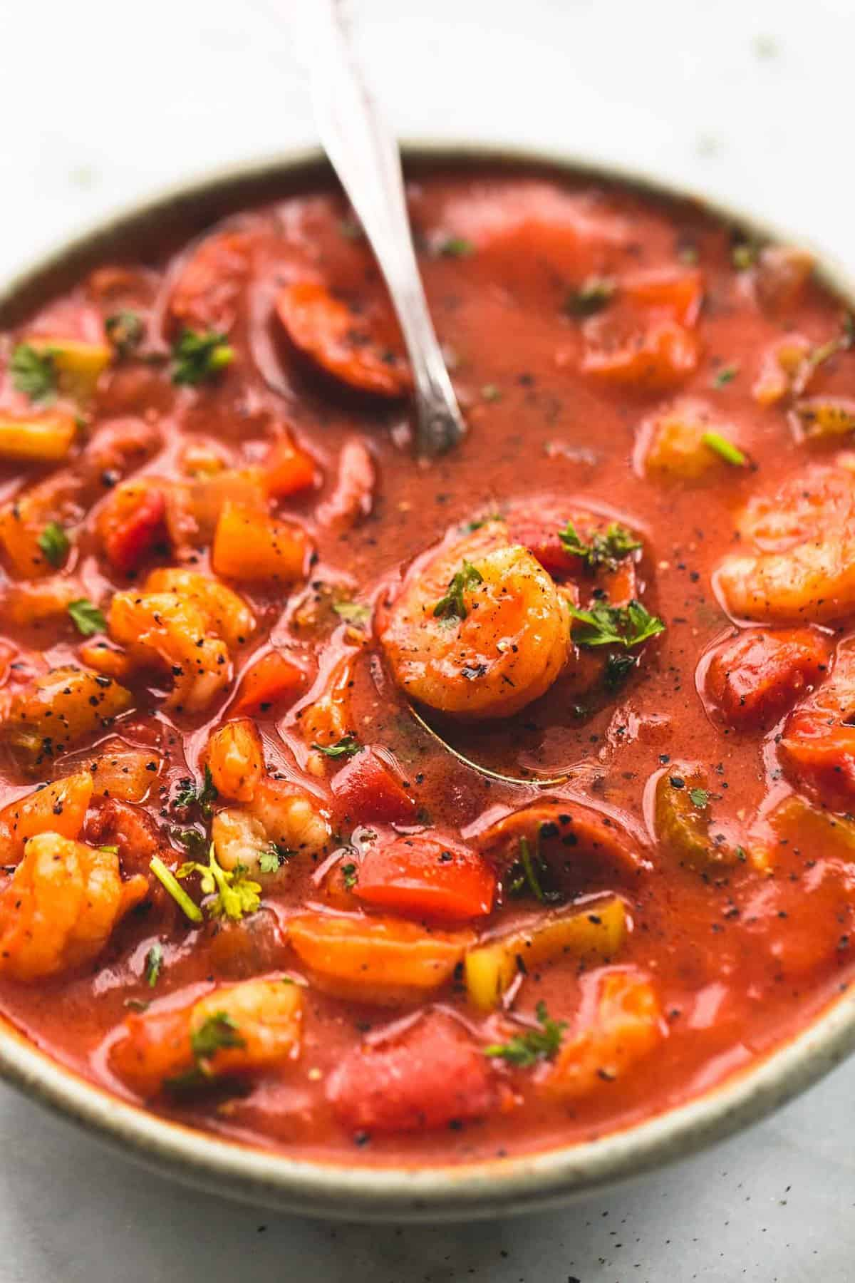 Shrimp and Sausage Gumbo | lecremedelacrumb.com