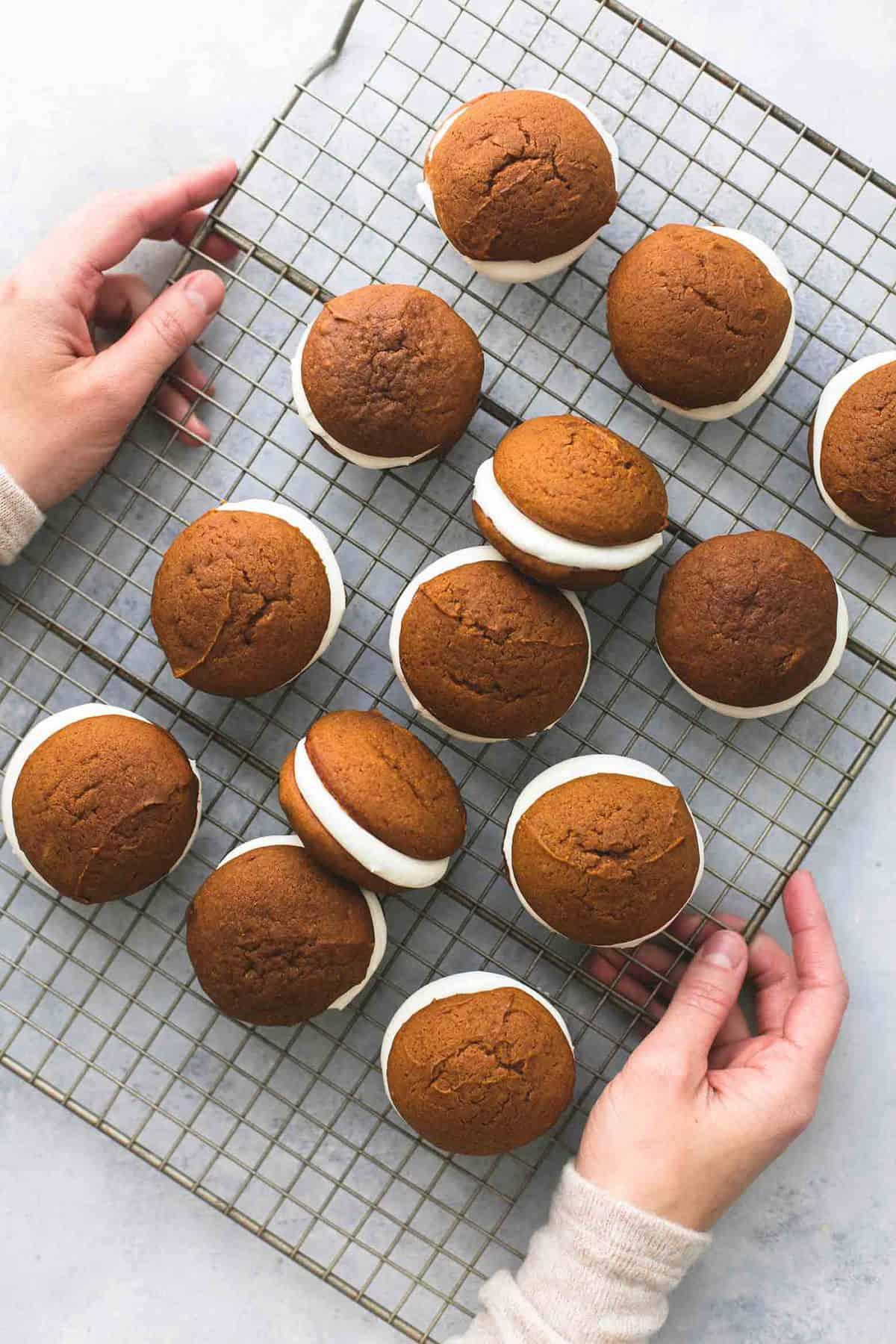 Gingerbread Whoopie Pies | lecremedelacrumb.com