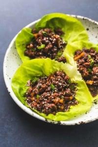 Honey Beef Lettuce Wraps | lecremedelacrumb.com
