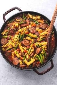 Sausage and Vegetable Soup | lecremedelacrumb.com