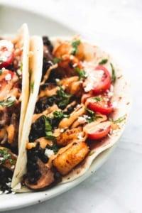 Shrimp or Chicken and Lentil Tacos | lecremedelacrumb.com