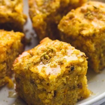 Slow Cooker Honey Jalapeno Cornbread | lecremedelacrumb.com