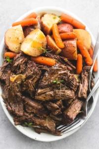 Instant Pot Pot Roast and Potatoes | lecremedelacrumb.com