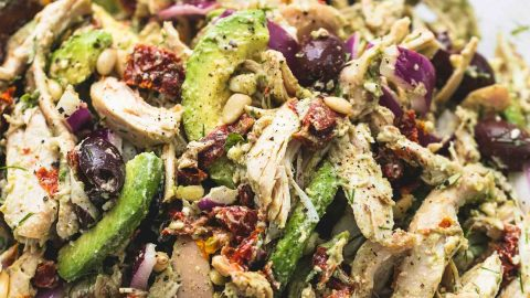 Greek Avocado Chicken Salad | lecremedelacrumb.com