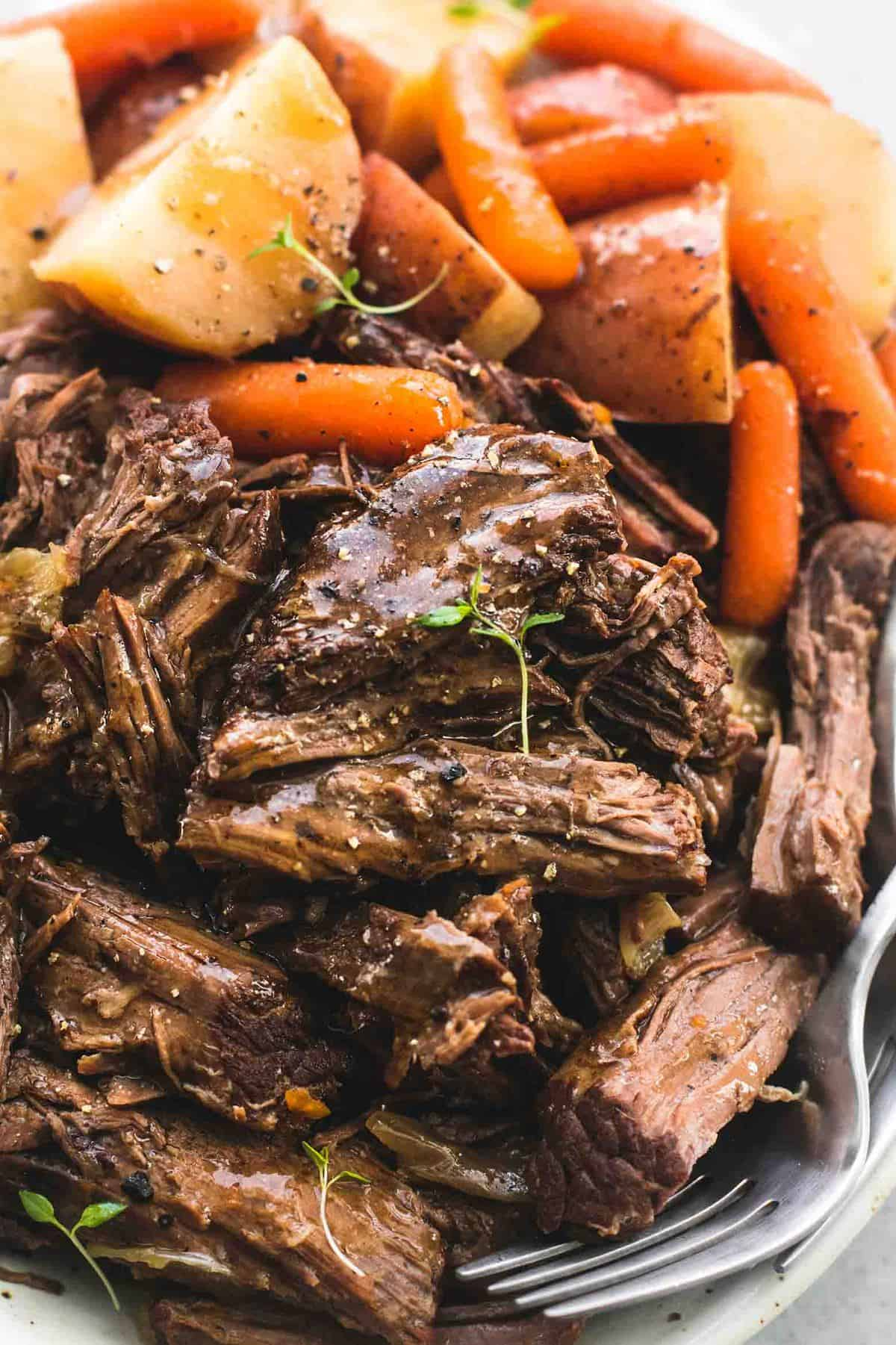 Instant Pot Pot Roast and Potatoes | lecremedelacrumb.com