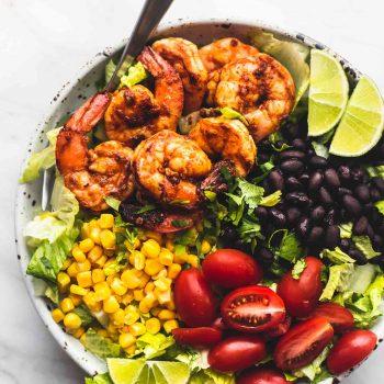 Fiesta Lime Shrimp Salad | lecremedelacrumb.com