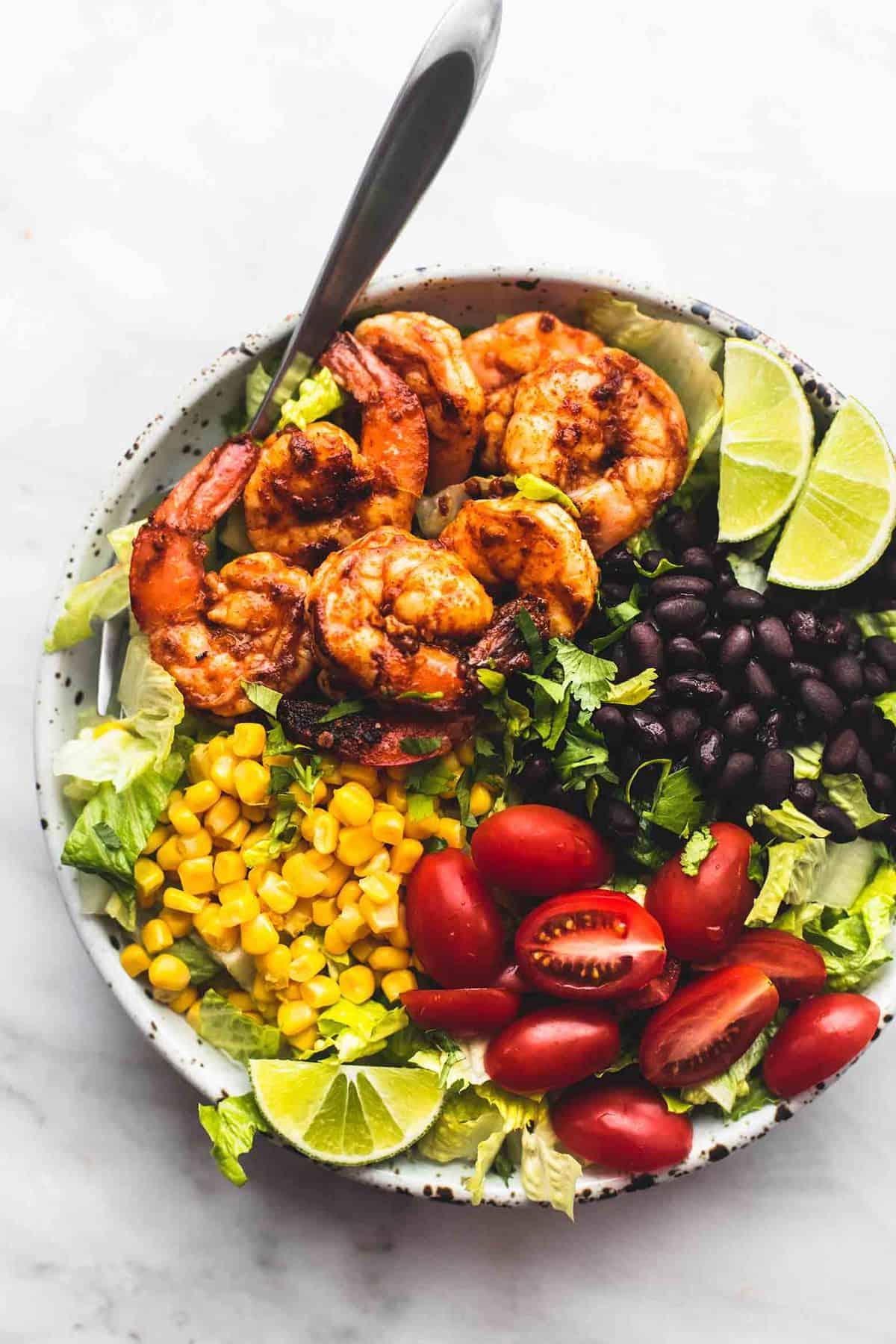 Fiesta Lime Shrimp Salad Creme De La Crumb