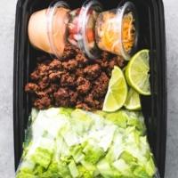 Taco Salad Meal Prep | lecremedelacrumb.com