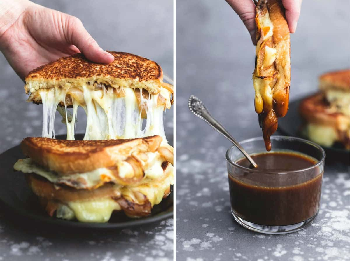 French Onion Grilled Cheese | lecremedelacrumb.com