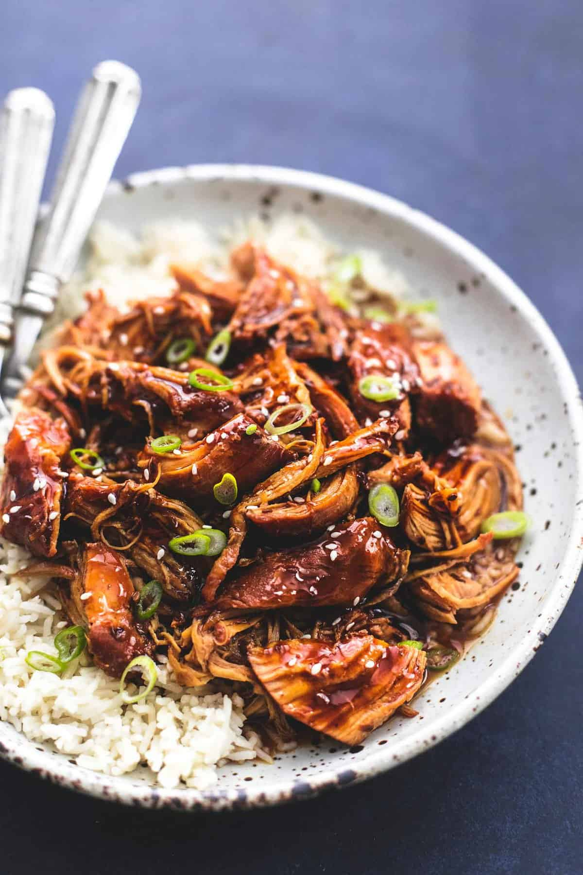 Instant Pot Honey Teriyaki Chicken | lecremedelacrumb.com