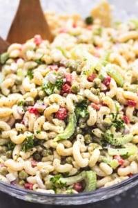 BEST Ever Creamy Sweet Macaroni Salad | lecremedelacrumb.com
