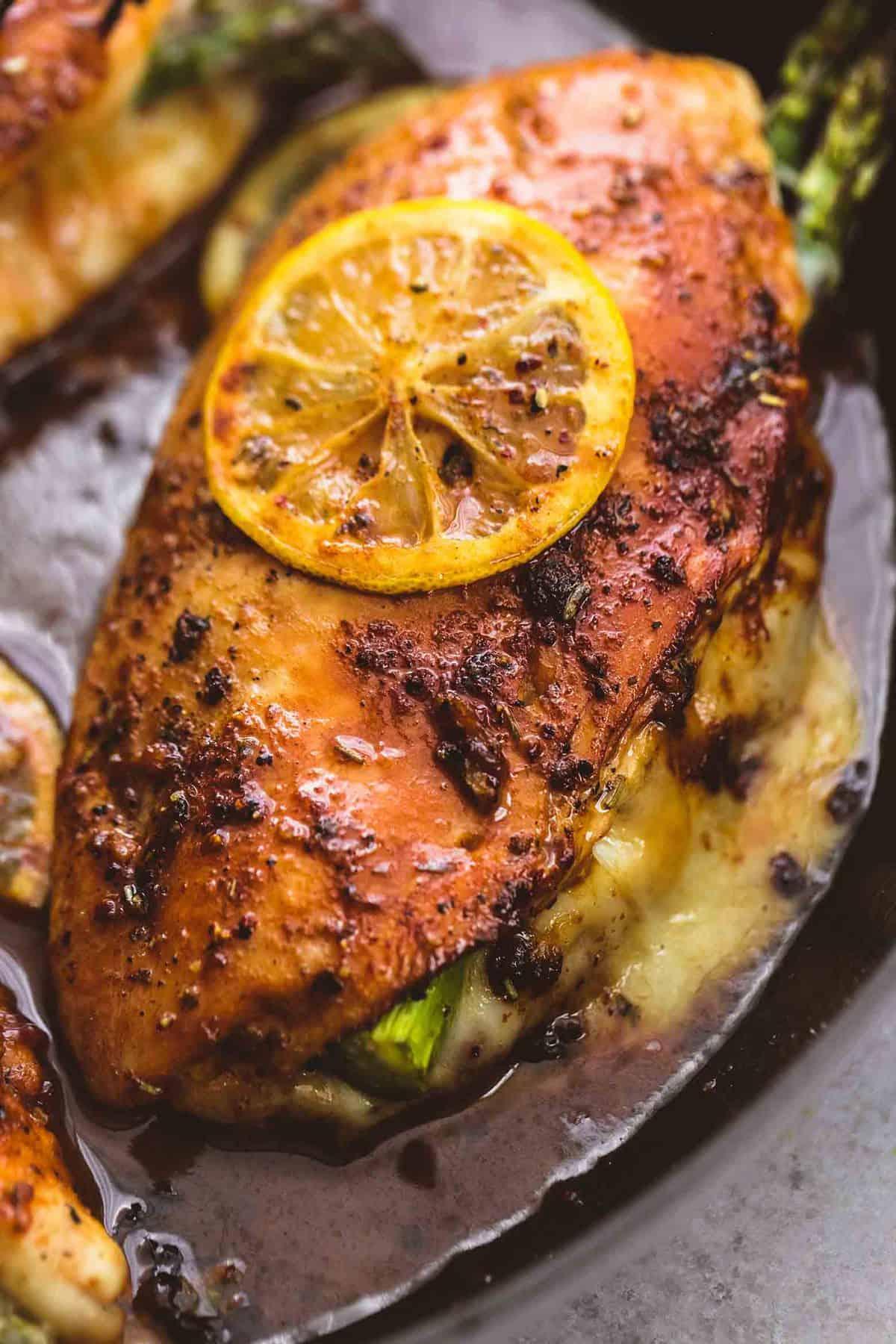 Asparagus Stuffed Chicken | lecremedelacrumb.com